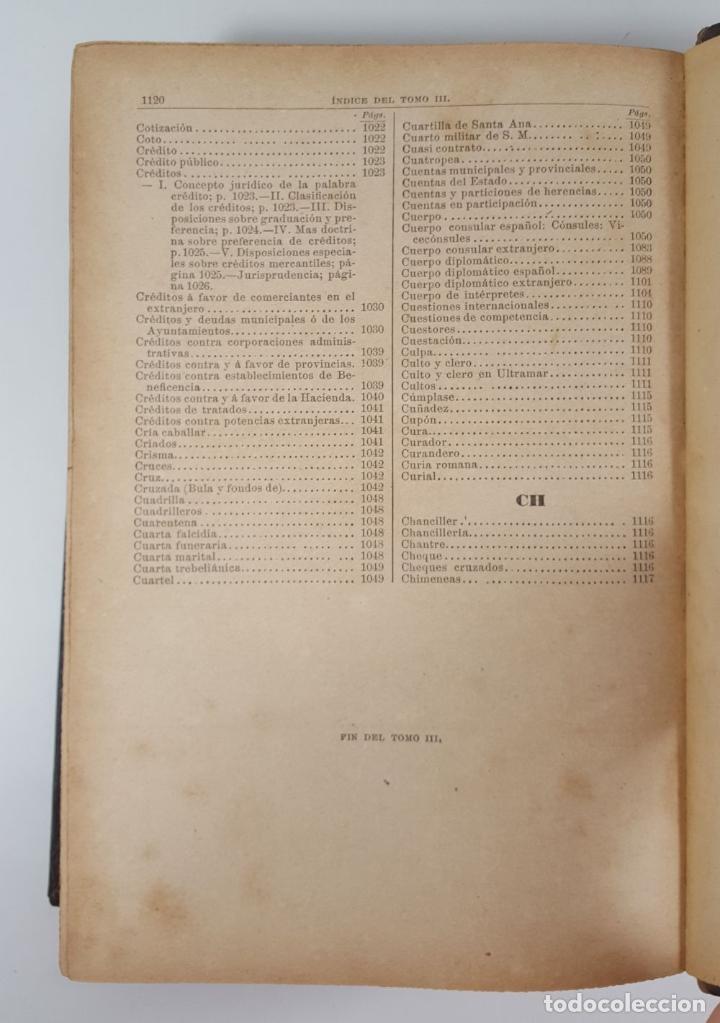 Diccionarios antiguos: DICCIONARIO DE ADMINISTRACIÓN. 6 TOMOS. MARCELO MARTÍNEZ ALCUBILLAS. MADRID. 1892/ 1894. - Foto 24 - 145499218