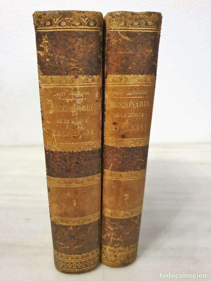 DICCIONARIO DE LA LENGUA CASTELLANA (2 TOMOS) - D. E. MARTY CABALLERO 1864 Y 1865 (Libros Antiguos, Raros y Curiosos - Diccionarios)