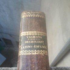 Diccionarios antiguos: DICCIONARIO LATINO-ESPAÑOL - NUEVO VALBUENA - VICENTE SALVÁ - VALENCIA, 1843 - 5ª ED. - PLENA PIEL. Lote 194684583