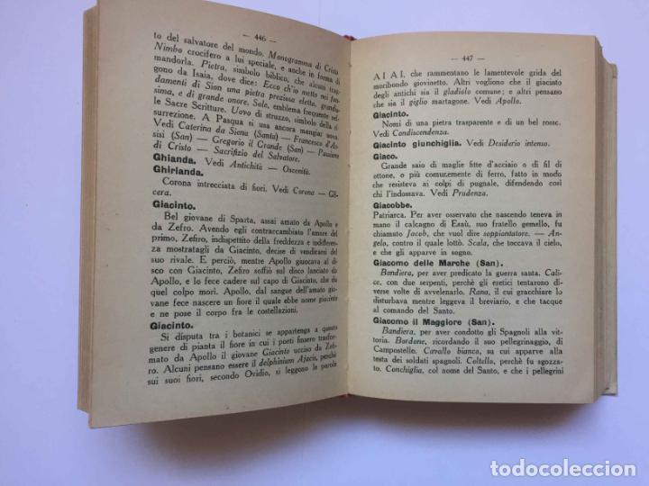 Diccionarios antiguos: RONCHETTI: Dizionario Illustrato dei Simboli (Milán, Hoepli, 1922) 1ª ed. ¡ORIGINAL! Coleccionista - Foto 5 - 194725223