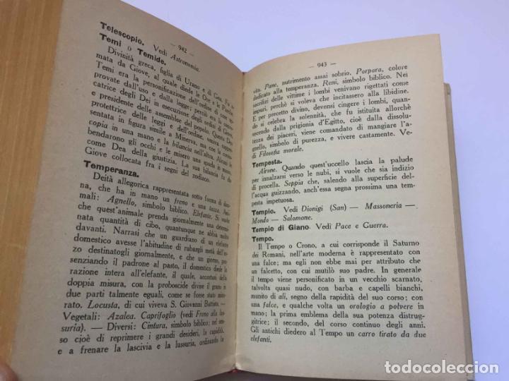 Diccionarios antiguos: RONCHETTI: Dizionario Illustrato dei Simboli (Milán, Hoepli, 1922) 1ª ed. ¡ORIGINAL! Coleccionista - Foto 6 - 194725223