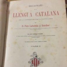 Diccionarios antiguos: DICCIONARIO DE LA LENGUA CATALANA.PERE LABERNIA Y ESTELLER. Lote 194924241