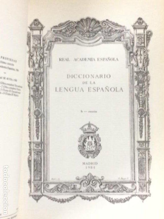 Diccionarios antiguos: DICCIONARIO DE LA REAL ACADEMIA ESPAÑOLA VIGESIMA EDICIÓN 1984. - Foto 6 - 194988468