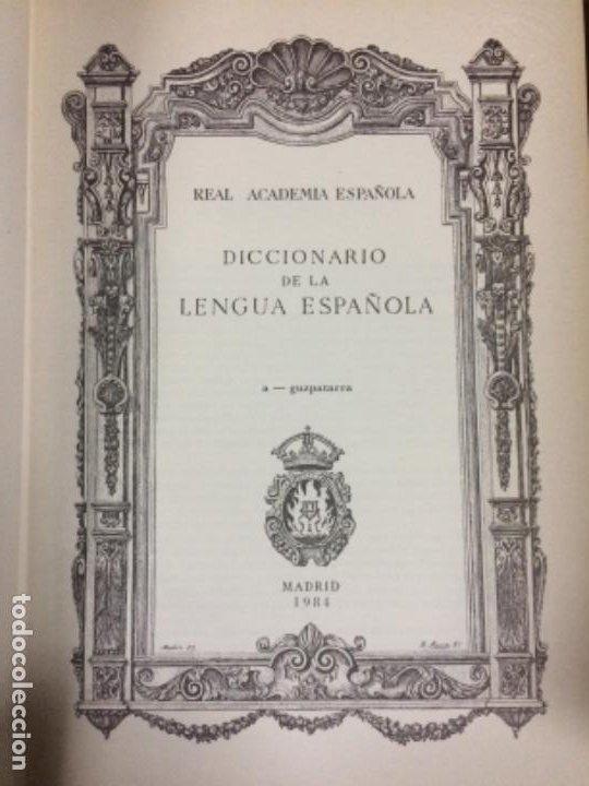 Diccionarios antiguos: DICCIONARIO DE LA REAL ACADEMIA ESPAÑOLA VIGESIMA EDICIÓN 1984. - Foto 9 - 194988468