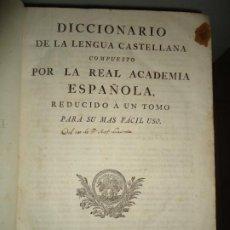Diccionarios antiguos: DICCIONARIO DE LA LENGUA CASTELLANA POR LA REAL ACADEMIA ESPAÑOLA. MADRID, JOAQUIN IBARRA 1780. Lote 195345206