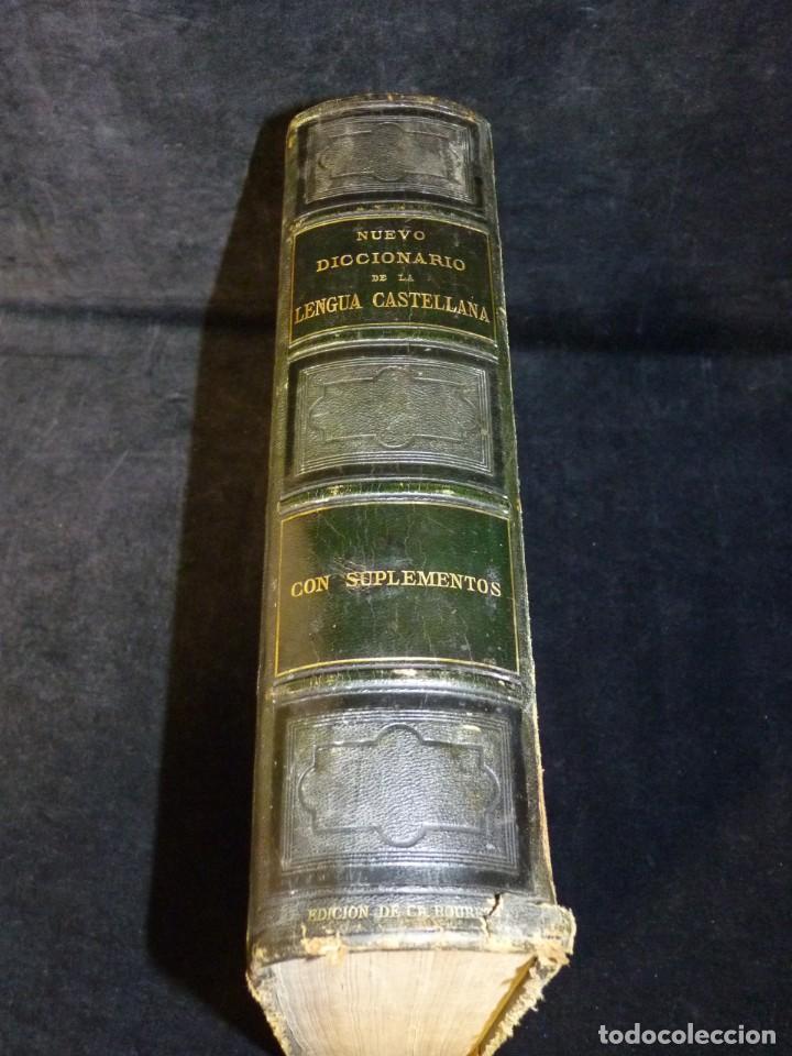 Diccionarios antiguos: NUEVO DICCIONARIO DE LA LENGUA CASTELLANA CON UN SUPLEMETO. LIBRERIA DE CH. BOURET, 1885. 32,5x25,5 - Foto 6 - 195354293