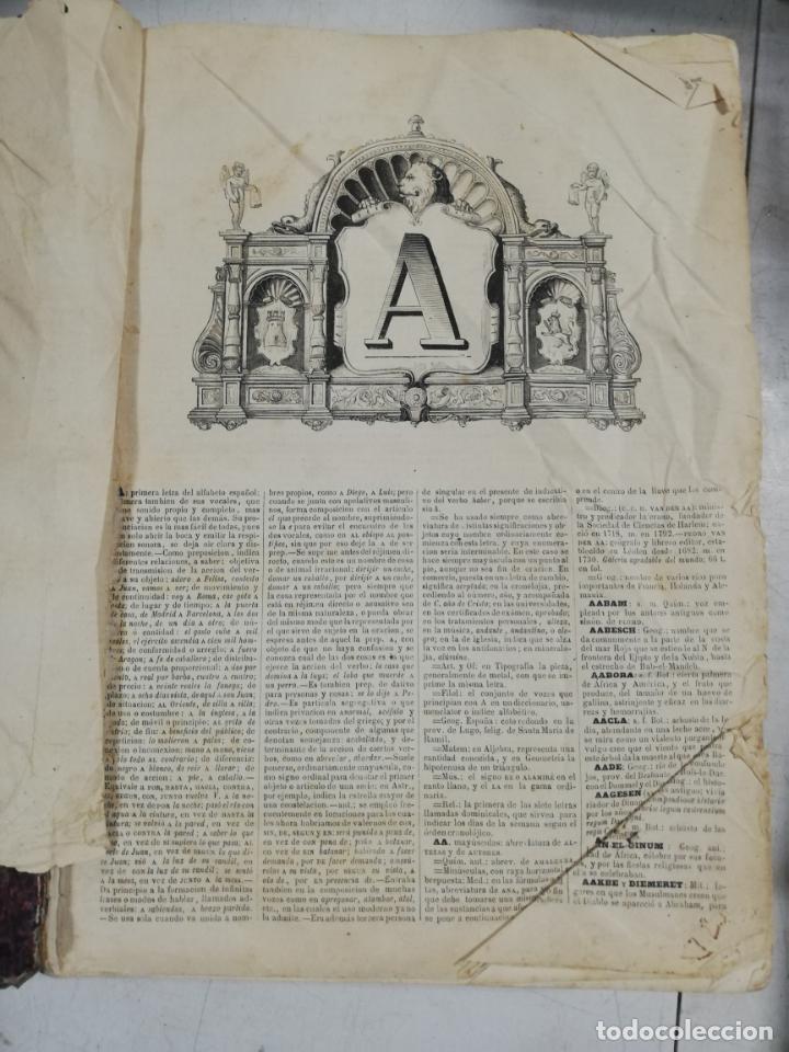 Diccionarios antiguos: DICCIONARIO ENCICLOPEDICO DE LA LENGUA ESPAÑOLA. DOS TOMOS. GASPAR Y ROIG, EDITORES. 1870. - Foto 6 - 195377377