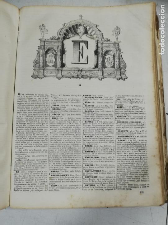 Diccionarios antiguos: DICCIONARIO ENCICLOPEDICO DE LA LENGUA ESPAÑOLA. DOS TOMOS. GASPAR Y ROIG, EDITORES. 1870. - Foto 10 - 195377377
