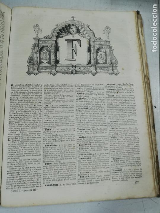 Diccionarios antiguos: DICCIONARIO ENCICLOPEDICO DE LA LENGUA ESPAÑOLA. DOS TOMOS. GASPAR Y ROIG, EDITORES. 1870. - Foto 11 - 195377377