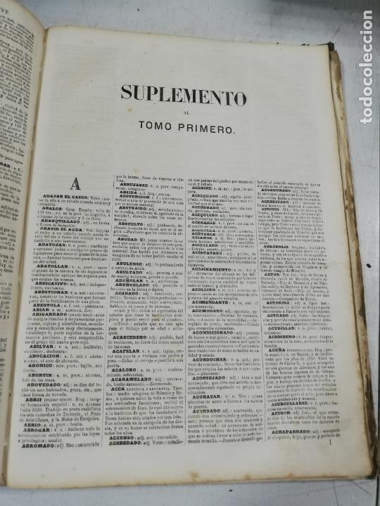 Diccionarios antiguos: DICCIONARIO ENCICLOPEDICO DE LA LENGUA ESPAÑOLA. DOS TOMOS. GASPAR Y ROIG, EDITORES. 1870. - Foto 14 - 195377377