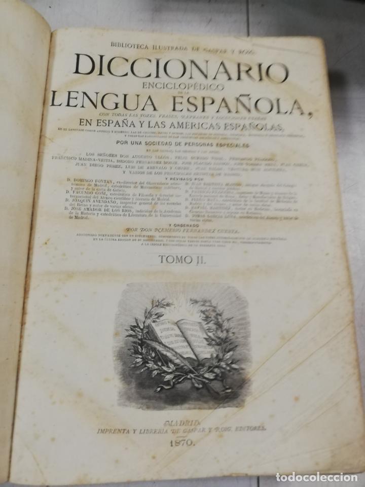 Diccionarios antiguos: DICCIONARIO ENCICLOPEDICO DE LA LENGUA ESPAÑOLA. DOS TOMOS. GASPAR Y ROIG, EDITORES. 1870. - Foto 18 - 195377377