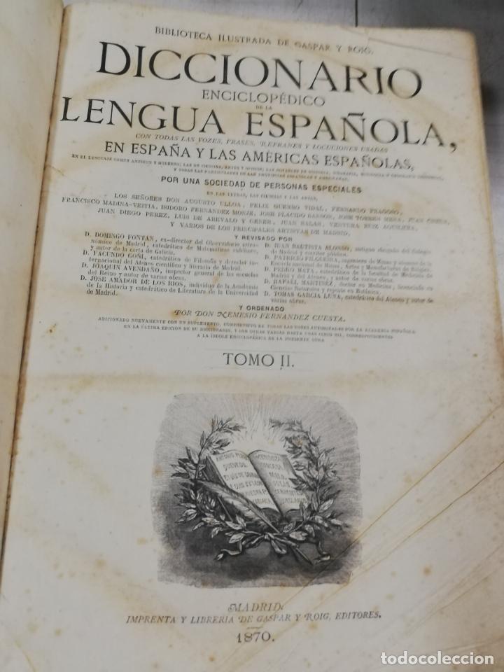 Diccionarios antiguos: DICCIONARIO ENCICLOPEDICO DE LA LENGUA ESPAÑOLA. DOS TOMOS. GASPAR Y ROIG, EDITORES. 1870. - Foto 21 - 195377377