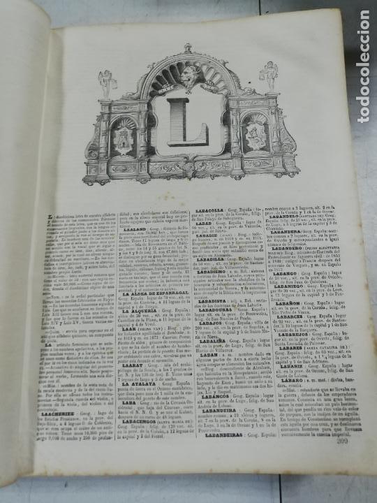 Diccionarios antiguos: DICCIONARIO ENCICLOPEDICO DE LA LENGUA ESPAÑOLA. DOS TOMOS. GASPAR Y ROIG, EDITORES. 1870. - Foto 25 - 195377377