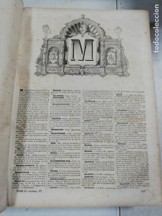 Diccionarios antiguos: DICCIONARIO ENCICLOPEDICO DE LA LENGUA ESPAÑOLA. DOS TOMOS. GASPAR Y ROIG, EDITORES. 1870. - Foto 27 - 195377377