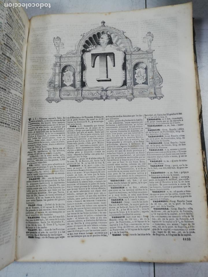 Diccionarios antiguos: DICCIONARIO ENCICLOPEDICO DE LA LENGUA ESPAÑOLA. DOS TOMOS. GASPAR Y ROIG, EDITORES. 1870. - Foto 35 - 195377377