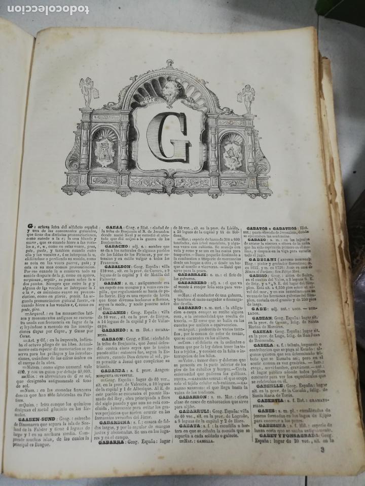 Diccionarios antiguos: DICCIONARIO ENCICLOPEDICO DE LA LENGUA ESPAÑOLA. DOS TOMOS. GASPAR Y ROIG, EDITORES. 1870. - Foto 12 - 195377377