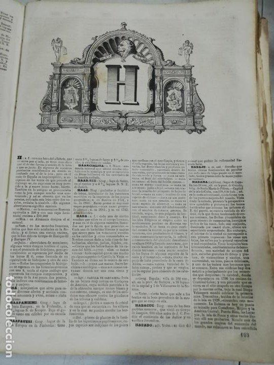 Diccionarios antiguos: DICCIONARIO ENCICLOPEDICO DE LA LENGUA ESPAÑOLA. DOS TOMOS. GASPAR Y ROIG, EDITORES. 1870. - Foto 13 - 195377377