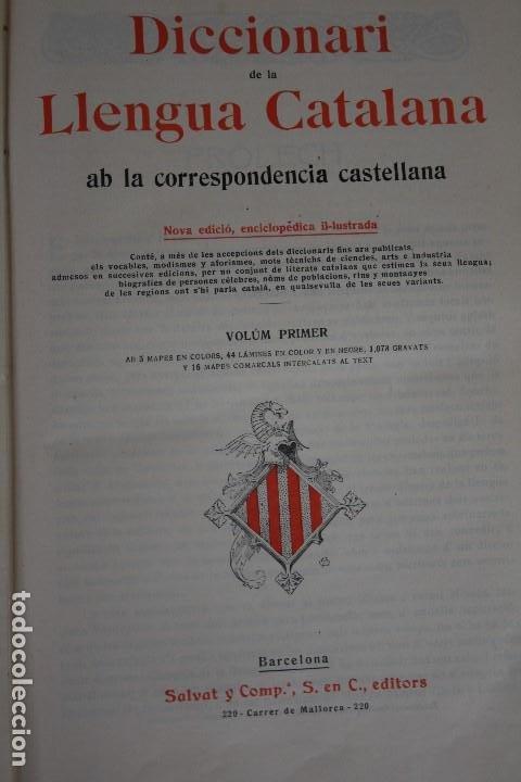 Diccionarios antiguos: DICCIONARI DE LA LLENGUA CATALANA. - Foto 4 - 195500676