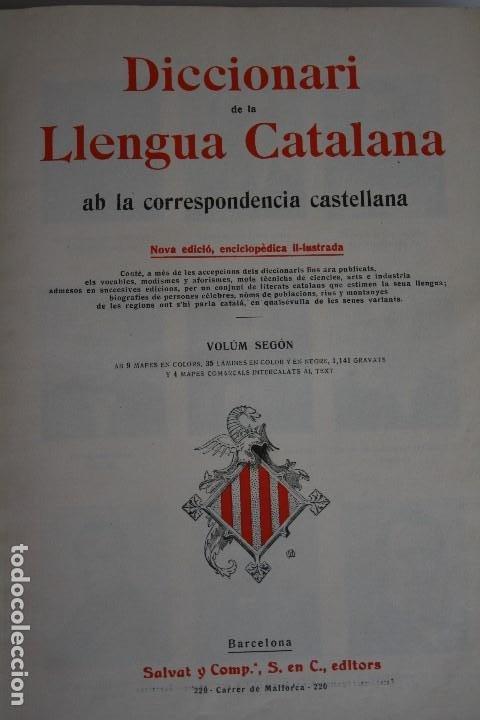 Diccionarios antiguos: DICCIONARI DE LA LLENGUA CATALANA. - Foto 5 - 195500676