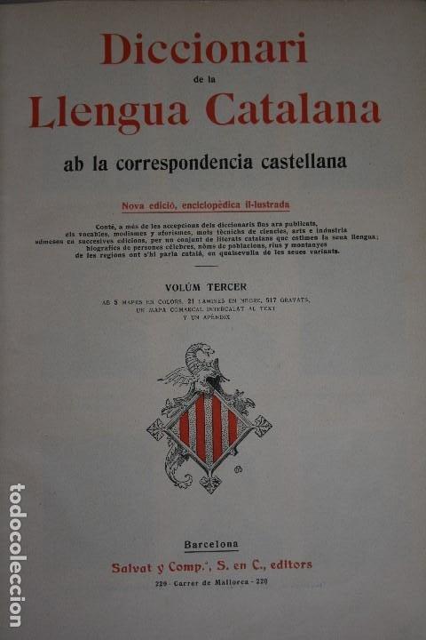 Diccionarios antiguos: DICCIONARI DE LA LLENGUA CATALANA. - Foto 6 - 195500676