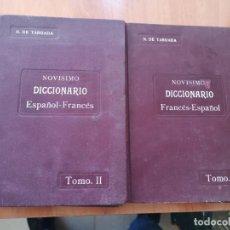 Diccionarios antiguos: NOVÍSIMO DICCIONARIO FRANCÉS ESPAÑOL TOMO I Y II OBRA COMPLETA N. DE TABOADA ED. MAUCCI 1909. Lote 195633612
