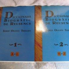 Livres anciens: DICCIONARIO BIOGRÀFIC DE REUSENCS. Lote 195704666