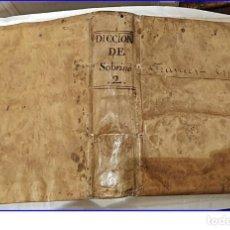 Diccionarios antiguos: AÑO 1751; DICCIONARIO ESPAÑOL-FRANCÉS. PERGAMINO. BRUSELAS. 26,50 CM. SIGLO XVIII.. Lote 196448392