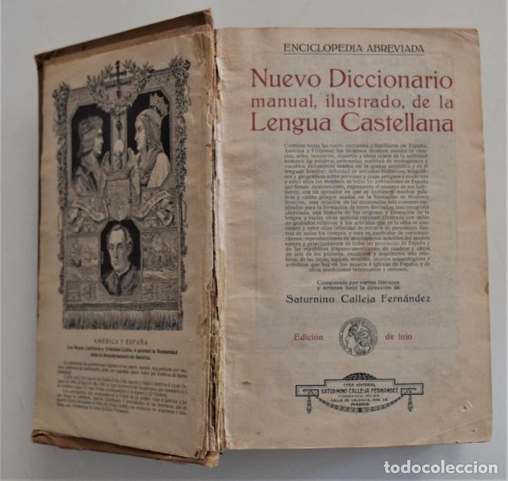 Diccionarios antiguos: DICCIONARIO ILUSTRADO DE LA LENGUA ESPAÑOLA - EDICIÓN DE LUJO - EDITORIAL SATURNINO CALLEJA AÑO 1914 - Foto 5 - 196538800