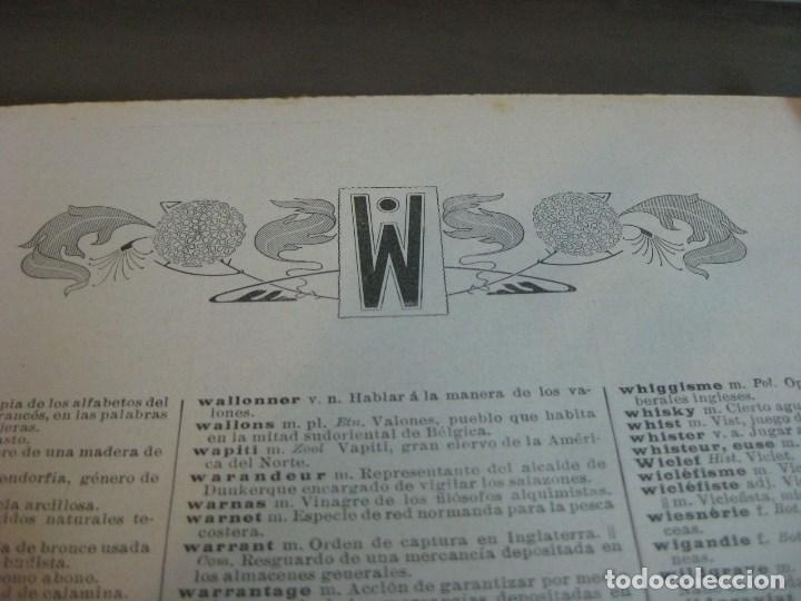 Diccionarios antiguos: Año 1905 GRAN DICCIONARIO FRANCES ESPAÑOL. SUPLEMENTO ENCICLOPEDIA ILUSTRADA SEGUI, BARCELONA - Foto 9 - 196669993