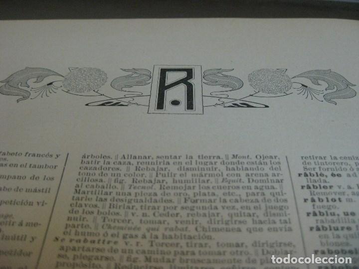 Diccionarios antiguos: Año 1905 GRAN DICCIONARIO FRANCES ESPAÑOL. SUPLEMENTO ENCICLOPEDIA ILUSTRADA SEGUI, BARCELONA - Foto 10 - 196669993