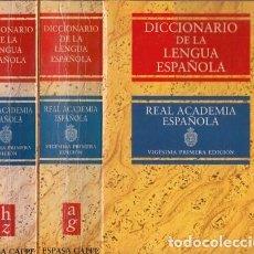 Diccionarios antiguos: LOTE DE 9 DICCIONARIOS ESPAÑOLES. Lote 196911958