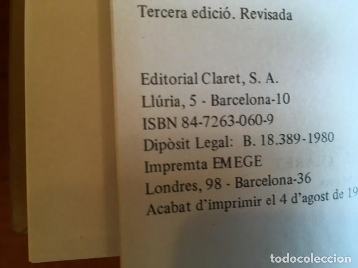 Diccionarios antiguos: libro nou diccionari de la llengua catalana per J.B.Xuriguera, editorial claret 1980 - Foto 3 - 198213457
