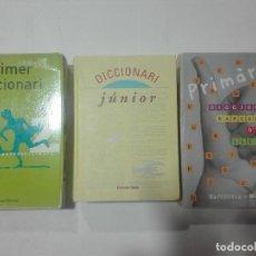 Diccionarios antiguos: 3 DICCIONARIS ESCOLARS CATALÀ JUNIOR PRIMÀRIA EDITORIAL BARCANOVA EUMO I ONDA - DICCIONARI. Lote 198861627