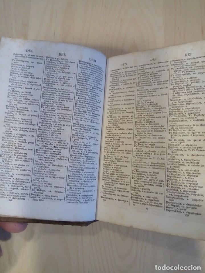 Diccionarios antiguos: POCKET DICTIONARY OF THE ENGLISH AND SOANISH. Circa 1842 - Foto 4 - 199408881