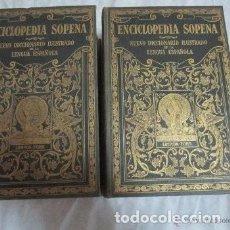 Diccionarios antiguos: DICCIONARIO SOPENA 2 TOMOS COMPLETO AÑO 1928.. Lote 200196827