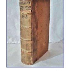 Diccionarios antiguos: AÑO 1613: VOCABULARIO DE LAS DOS LENGUAS TOSCANA Y CASTELLANA. MÁS DE 400 AÑOS DE ANTIGÜEDAD. RARO. Lote 200594532