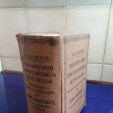 Diccionarios antiguos: DICCIONARIO ENCICLOPEDICO ILUSTRADO 1934. Lote 201955775