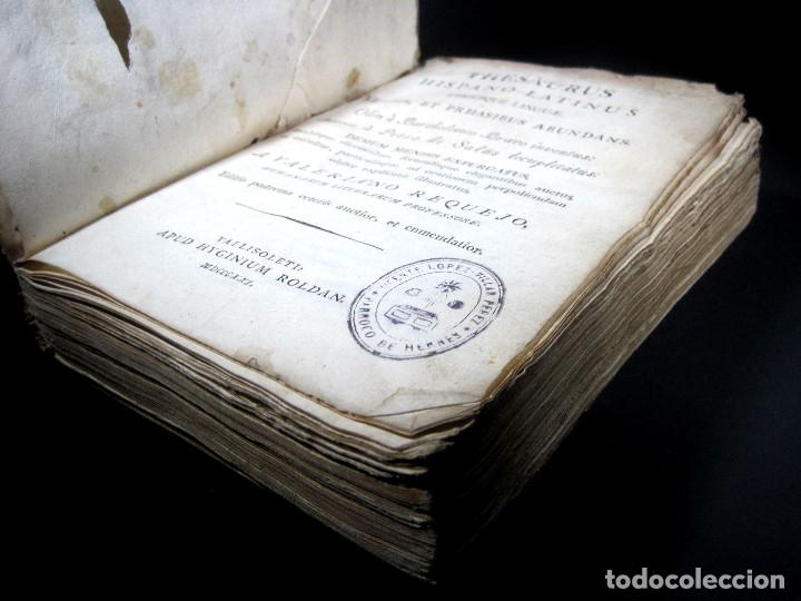 Diccionarios antiguos: Año 1821 Dichos y refranes Imprenta Valladolid Thesaurus hispano-latinus Pergamino Castellano Latín - Foto 7 - 108678439