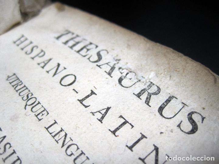 Diccionarios antiguos: Año 1821 Dichos y refranes Imprenta Valladolid Thesaurus hispano-latinus Pergamino Castellano Latín - Foto 8 - 108678439