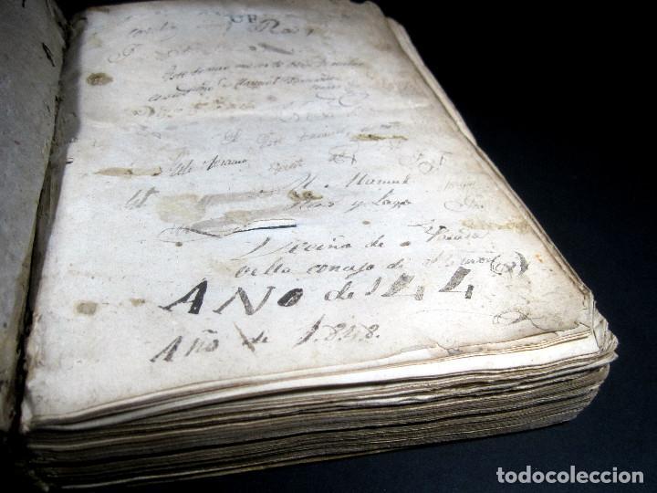 Diccionarios antiguos: Año 1821 Dichos y refranes Imprenta Valladolid Thesaurus hispano-latinus Pergamino Castellano Latín - Foto 9 - 108678439