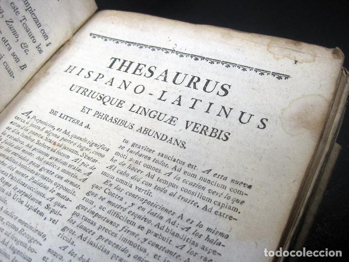 Diccionarios antiguos: Año 1821 Dichos y refranes Imprenta Valladolid Thesaurus hispano-latinus Pergamino Castellano Latín - Foto 12 - 108678439