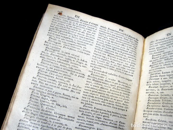 Diccionarios antiguos: Año 1821 Dichos y refranes Imprenta Valladolid Thesaurus hispano-latinus Pergamino Castellano Latín - Foto 13 - 108678439