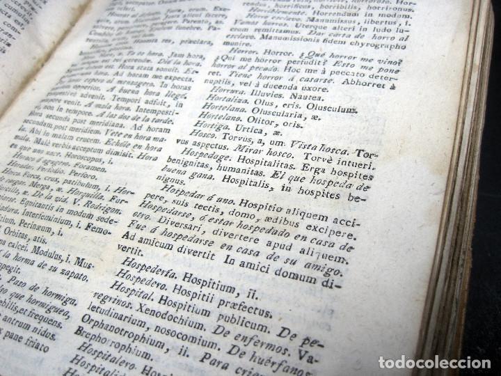Diccionarios antiguos: Año 1821 Dichos y refranes Imprenta Valladolid Thesaurus hispano-latinus Pergamino Castellano Latín - Foto 14 - 108678439