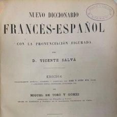 Diccionarios antiguos: VICENTE SALVÁ. NUEVO DICCIONARIO FRANCÉS ESPAÑOL. PARÍS, 1906. PRECIOSA ENCUADERNACIÓN.. Lote 203800557
