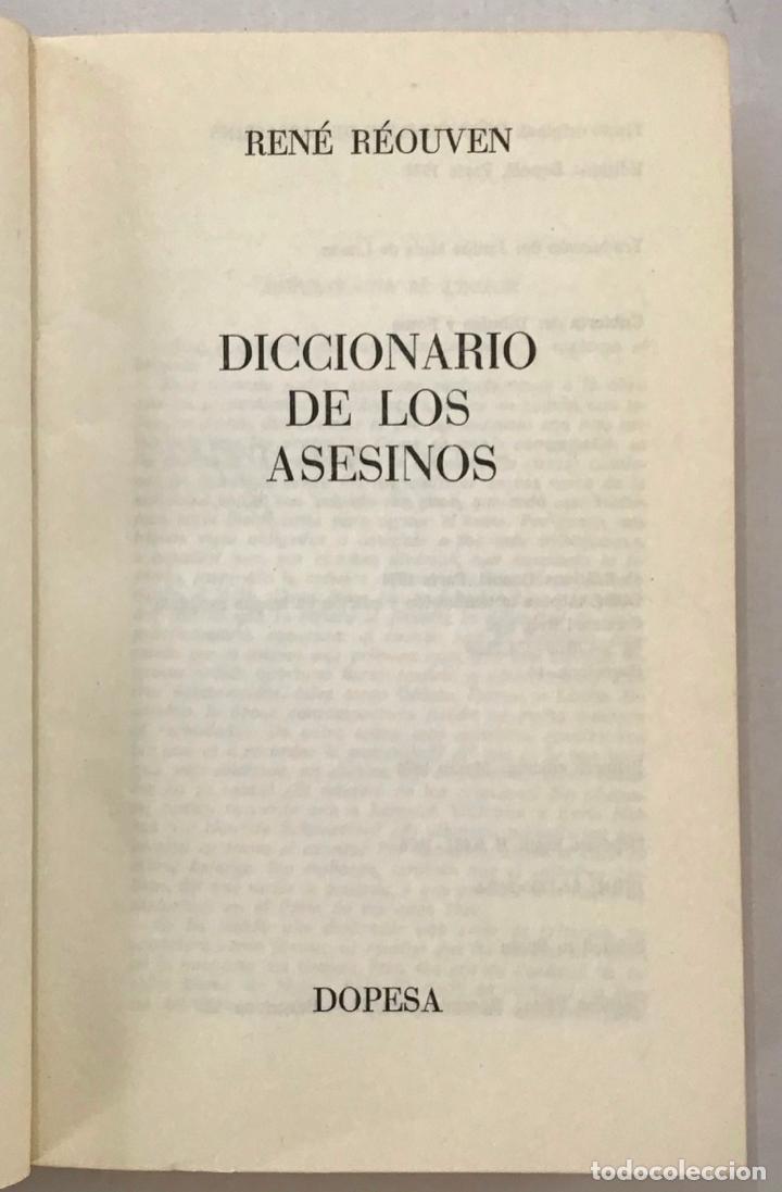 Diccionarios antiguos: DICCIONARIO DE LOS ASESINOS. - Foto 2 - 204658971