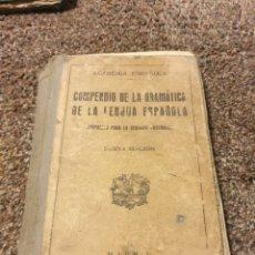 Diccionarios antiguos: LIBRO COMPENDIO DE LA GRAMATICA 1931. Lote 204729558