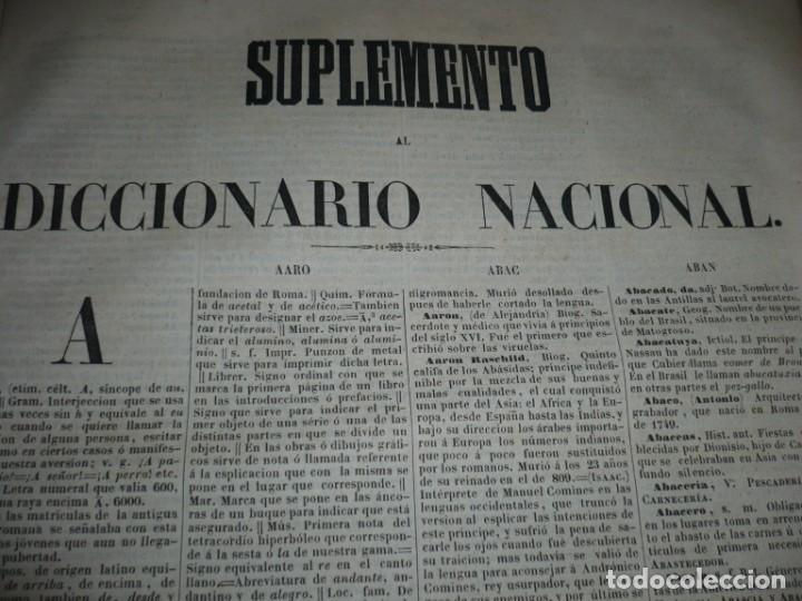 Diccionarios antiguos: DICCIONARIO NACIONAL DE LA LENGUA ESPAÑOLA R. JOAQUIN DOMINGUEZ 1849 MADRID TOMO II+SUPLEMENTO - Foto 11 - 205330998