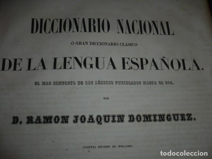 Diccionarios antiguos: DICCIONARIO NACIONAL DE LA LENGUA ESPAÑOLA R. JOAQUIN DOMINGUEZ 1849 MADRID TOMO II+SUPLEMENTO - Foto 10 - 205330998