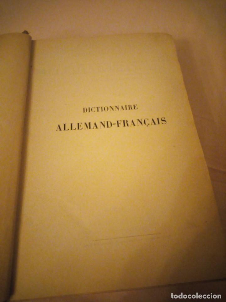 Diccionarios antiguos: DICTIONNAIRE ALLEMAND-FRANCAIS ET FRANCAIS-ALLEMAND,suckau-fix. 1893 - Foto 3 - 206413740