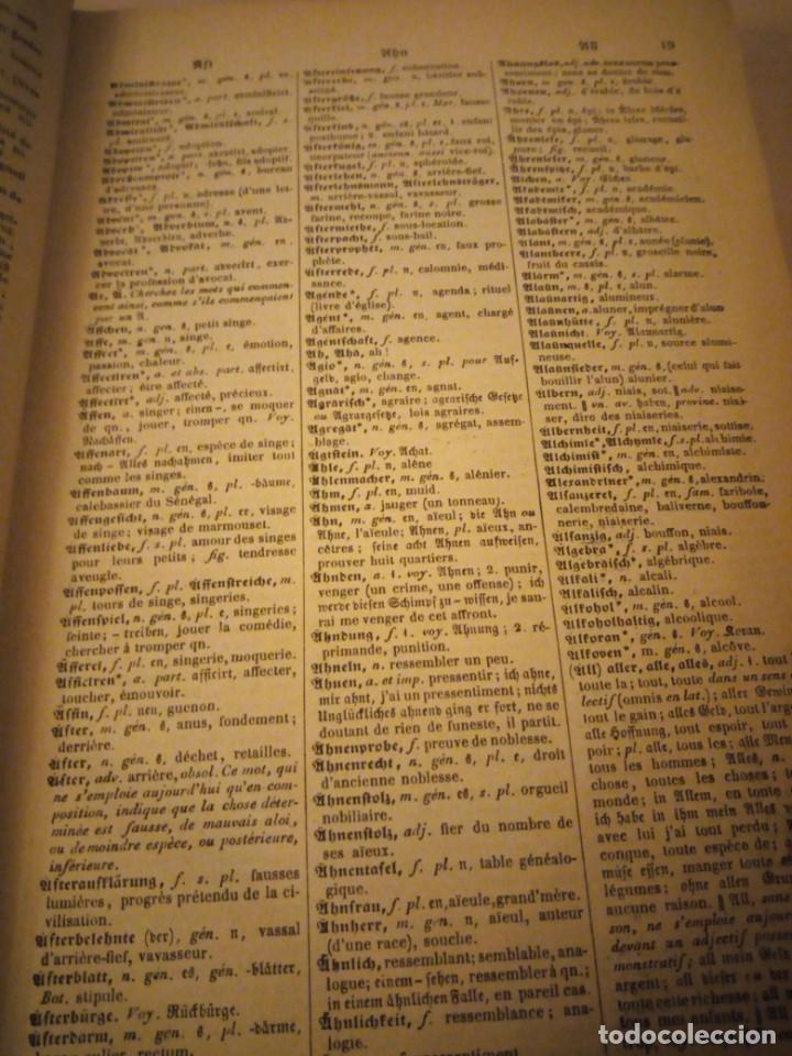 Diccionarios antiguos: DICTIONNAIRE ALLEMAND-FRANCAIS ET FRANCAIS-ALLEMAND,suckau-fix. 1893 - Foto 6 - 206413740